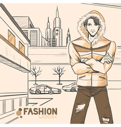 Fashion urban style vector