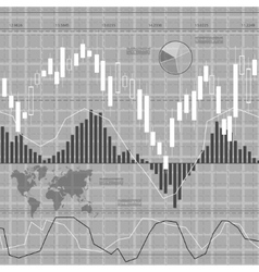 Finance background gray vector image