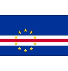 Flag of Cape Verde in correct size colors vector