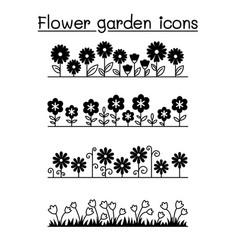 flower garden pattern background vector image
