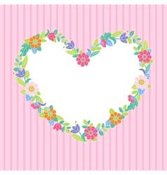 Flower heart frame vector