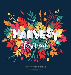 Harvest festival in paper style Fall style for vector