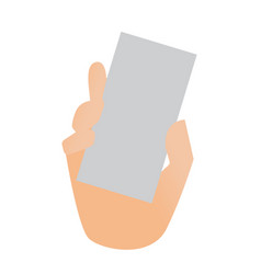 human hand showing a blank business card vector image