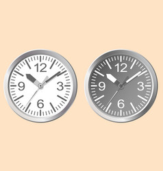 Images of wall clocks world time concept vector