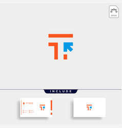 Initial t click pointer logo template vector