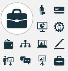 Job icons set collection of hierarchy vector
