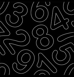 line art numeral seamless pattern vector image