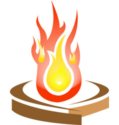 logo of fire vector image