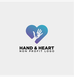 Love care give heart logo template icon element vector