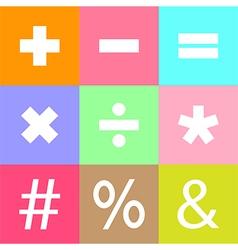 Mathematical symbols vector