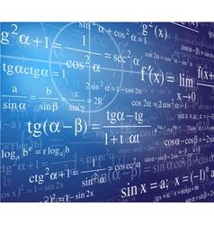 Mathematics background with formulas vector