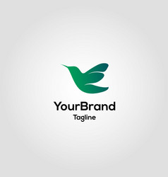 modern bird logo template vector image