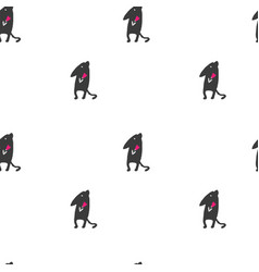mouse drawn by hand seamless pattern vector image