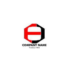 number eight logo logo 8 template vector image