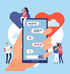 online dating friendly internet communication vector image