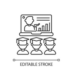 online lecture linear icon vector image