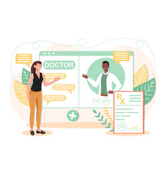 Online medical advise or consultation service vector