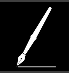Pen the white color icon vector