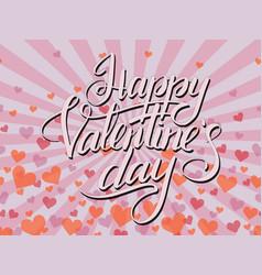 pop art happy valentines day typographic lettering vector image