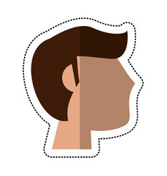 profile man groom married vector image