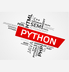 Python word cloud tag cloud graphics vector