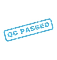 Qc Passed Rubber Stamp vector image