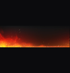 Realistic fire with sparks and smoke vector