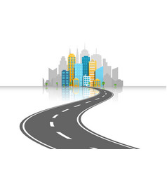 road to city light concept vector image