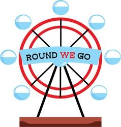 Round We Go vector