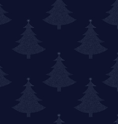 seamless pattern christmas tree 00 vector image