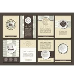 Set of brochures in vintage style vector