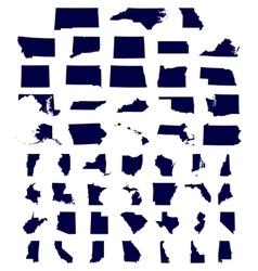 Set us states maps vector