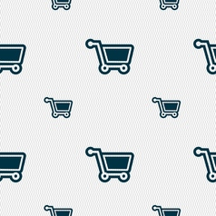 shopping cart icon sign Seamless pattern with vector image