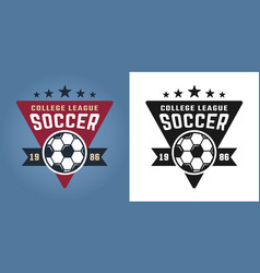 soccer college team two styles emblems vector image