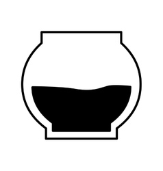 Sweet honey pot isolated icon vector