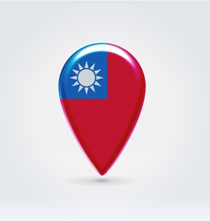 Taiwan icon point for map vector image