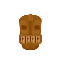 Tiki head idol icon flat style vector