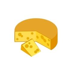 Traditional Dutch Gouda cheese icon vector