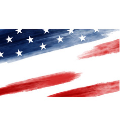 usa or america flag background vector image
