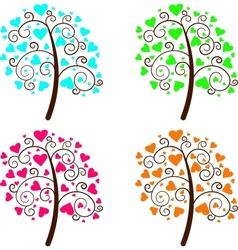 Valentine Tree of Love vector image