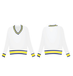 White college jumper vector