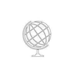 world globe flat icon vector image
