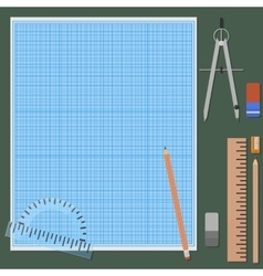 Accessories for mechanical drawing vector image vector image