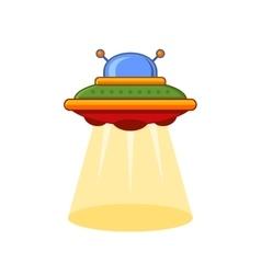 Cartoon Style UFO Icon vector image
