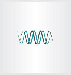 Frequency wavelength logo symbol vector
