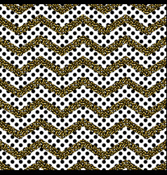 zigzag angle wave lines with gold glitter seamless vector image vector image