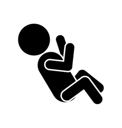 pictogram of little baby lying vector image