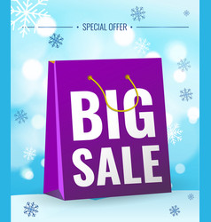 sale new year poster vector image vector image