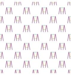 Baby swing pattern cartoon style vector image