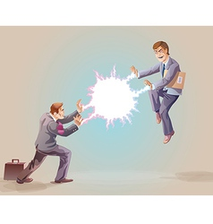 Confrontation vector image